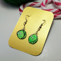 Shrink Plastic Sprout Charm Earrings