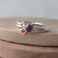Create Your Own Birthstone Ring Set with Three Gemstones