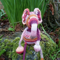 Toy elephant KNITTING PATTERN PDF. Charity