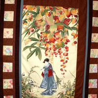 Quilt - The Geisha Girl Oriental Style
