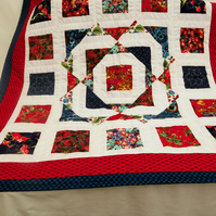 Patchwork Quilt -   Nursery Playmat -Traditional Nursery Quilt