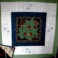 "Quilt in the style of William Morris - 40"" x 40"""