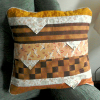 Patchwork Cushion in Autumn Colours