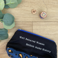 Literary Quote Zip Pouch Bag, Teacher Present, zip Bag