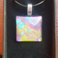 Glass abstract pendant eye catching.