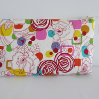 Large multi use zip bag - cosmetics, sewing, project bag, Travel bag