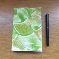 'CURLS & SWIRLS' - Textile Slip Cover on hardback, ruled Notebook