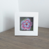 'HIBISCUS' - Framed, free motion embroidery