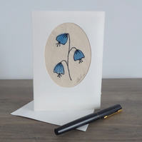 'BLUEBELLS' - Free motion embroidery card