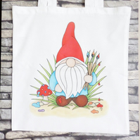 'Norm' Painting Gnome Tote Bag - Eco Friendly Bag - Shopping Bag - Craft Bag