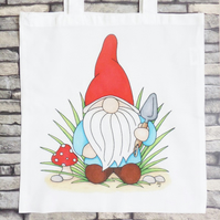 'Norm' Garden Gnome Tote Bag - Eco Friendly Bag - Shopping Bag - Craft Bag