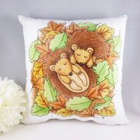 Sleeping Hedgehogs Cushion Cover - Soft Hedgehog Cushion