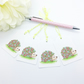 Floral Hedgehog Gift Tags - set of 4 tags