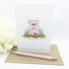 Little Pig Card - Blank - Any Occasion