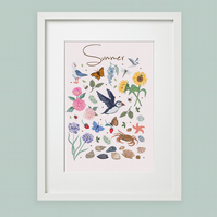 'Summer' illustration print, nursery wall art