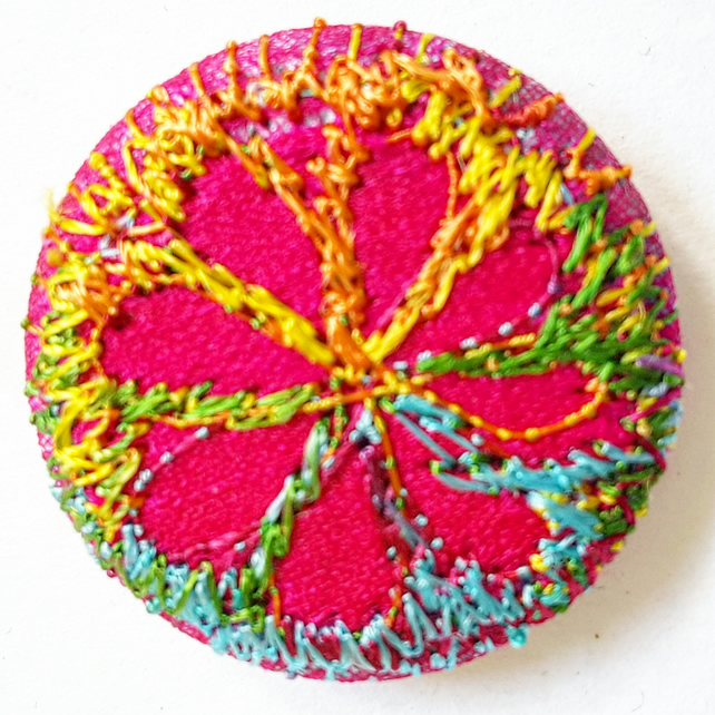 Badge Stitched Silk Badge One Inch