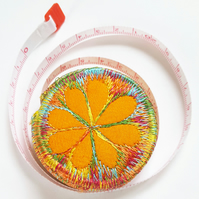 Free machine embroidery retractable tape measure