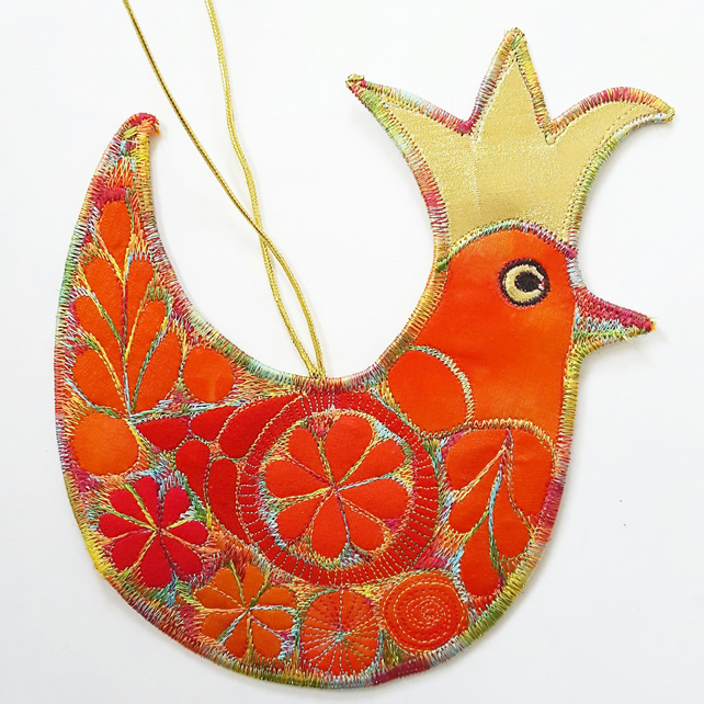 Festive Bird Hanging Decoration