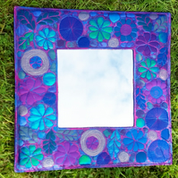 Free Machine Embroidery Framed Mirror