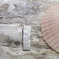 Handmade Sterling Silver Pendant Necklace UK Free Post