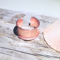 Copper Anticlastic Open Hammer Textured Ring - UK Free Post