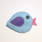 Cute Blue Felt Bird Brooch