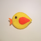 Cute Yellow Felt Bird Brooch