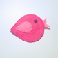 Cute Pink Felt Bird Brooch