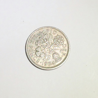 1 x Lucky Sixpence Dated 1964