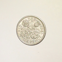 1 x Lucky Sixpence Dated 1961