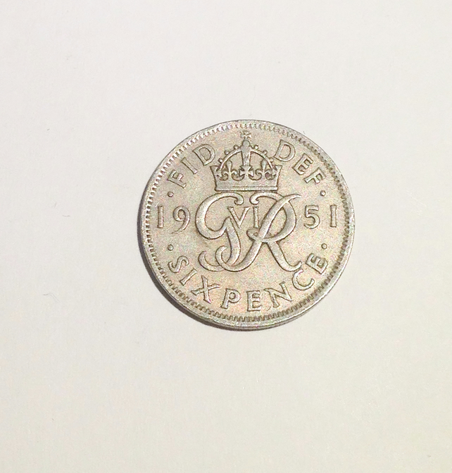 Lucky Sixpence Dated 1951