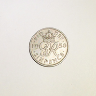 Lucky Sixpence Dated 1950