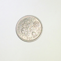 1 x Lucky Sixpence Dated 1967