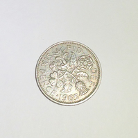 1 x Lucky Sixpence Dated 1965