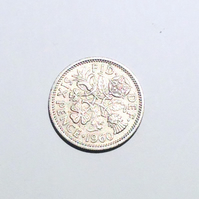 1 x Lucky Sixpence Dated 1960