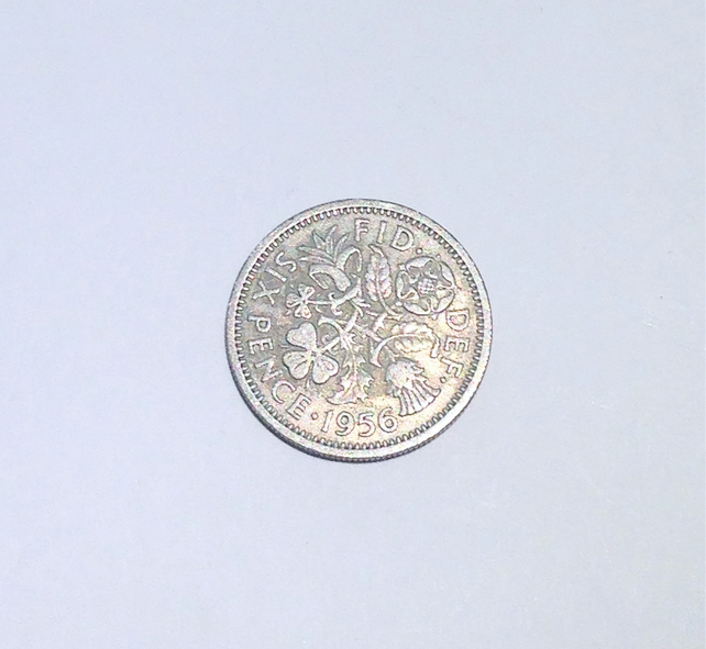 1 x Lucky Sixpence Dated 1956