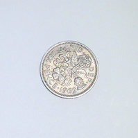 1 x Lucky Sixpence Dated 1962