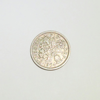 1 x Lucky Sixpence Dated 1954