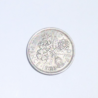 1 x Lucky Sixpence Dated 1966