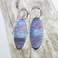 Handmade Coloured and Textured Titanium Earrings - UK Free Post
