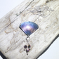 Handmade Coloured Titanium and Crystal Bead Fan Shaped Pendant  - UK Free Post
