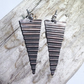 Corrugated Hammered and Oxidised Copper Drop Earrings - UK Free Post