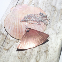 Hammer Textured Copper Pendant UK Free Post - UK Free Post