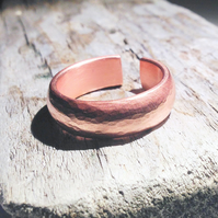 Handmade Chunky Open Copper Ring - UK Free Post