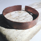 Hammered Antiqued Copper Cuff Bangle - UK Free Post