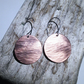 Textured Copper Disc Earrings - UK Free Post