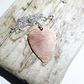 Hammer Textured Copper Plectrum Pendant Necklace - UK Free Post