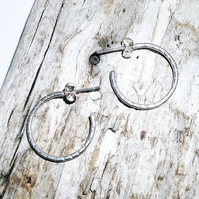 Sterling Silver Open Hoop Earrings - UK Free Post