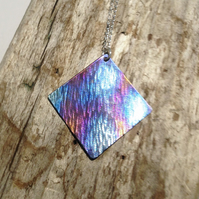 Handmade Coloured Titanium Pendant Necklace - UK Free Post