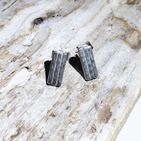 Sterling Silver Textured Stud Earrings - UK Free Post